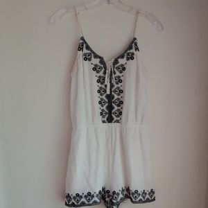 BETHANY MOTA EMBROIDERED ROMPER SMALL